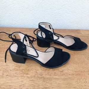 Esprit London Lace Up Block Heel Sandal